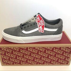 NIB Vans Old Skool Sneaker Low Top Shoes Unisex Men's 9.5 Women's 11 Pewter Gray